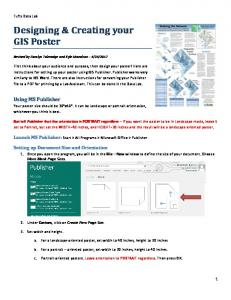 Designing & Creating your GIS Poster