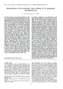 Determination of the anisotropic shear stiffness of an unsaturated decomposed soil