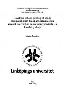 Development and piloting of a fully automated, push based, extended session alcohol intervention on university students a feasibility study