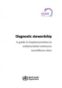 Diagnostic stewardship. A guide to implementation in antimicrobial resistance surveillance sites