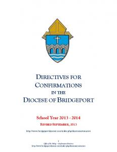 DIRECTIVES FOR CONFIRMATIONS