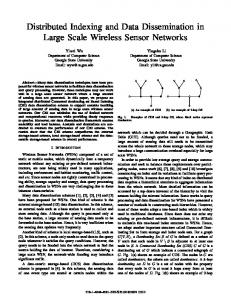 Distributed Indexing and Data Dissemination in Large Scale Wireless Sensor Networks