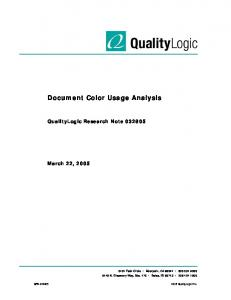 Document Color Usage Analysis