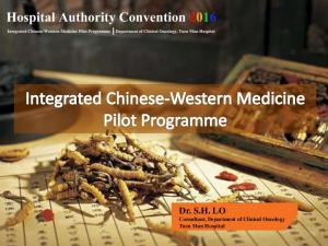Dr. S.H. LO Consultant, Department of Clinical Oncology Tuen Mun Hospital