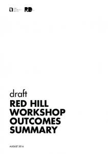 draft RED HILL WORKSHOP OUTCOMES SUMMARY