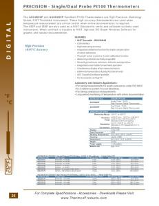 Dual Probe Pt100 Thermometers