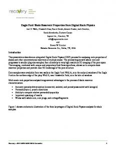 Eagle Ford Shale Reservoir Properties from Digital Rock Physics