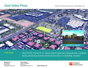 East Valley Plaza. 40,275 SF, Zoned C-3, Value-Add Investment Opportunity Located Along Booming Arizona Avenue Corridor in Chandler, Arizona