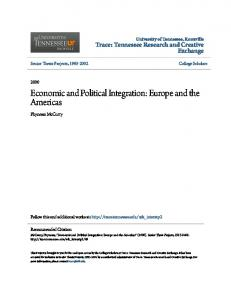 Economic and Political Integration: Europe and the Americas