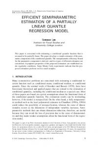 EFFICIENT SEMIPARAMETRIC ESTIMATION OF A PARTIALLY LINEAR QUANTILE REGRESSION MODEL