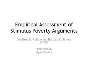 Empirical Assessment of Stimulus Poverty Arguments