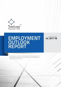 EMPLOYMENT OUTLOOK REPORT