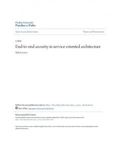 End-to-end security in service-oriented architecture