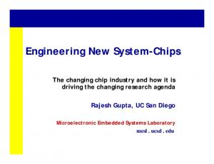 Engineering New System-Chips