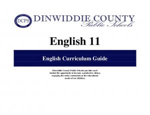 English 11 English Curriculum Guide