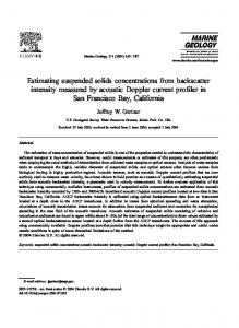Estimating suspended solids concentrations from backscatter intensity measured by acoustic Doppler current profiler in San Francisco Bay, California