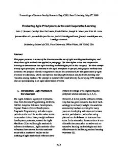 Evaluating Agile Principles in Active and Cooperative Learning