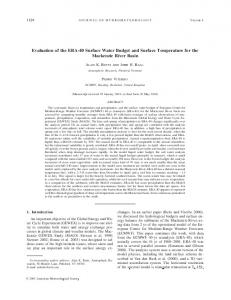 Evaluation of the ERA-40 Surface Water Budget and Surface Temperature for the Mackenzie River Basin