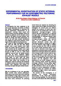 EXPERIMENTAL INVESTIGATION OF STATIC INTERNAL PERFORMANCE FOR AN AXISYMMETRIC VECTORING EXHAUST NOZZLE