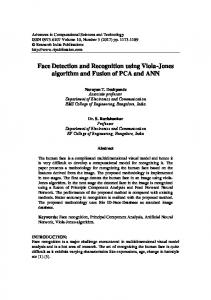 Face Detection and Recognition using Viola-Jones algorithm and Fusion of PCA and ANN