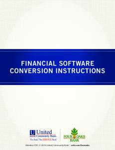 FINANCIAL SOFTWARE CONVERSION INSTRUCTIONS
