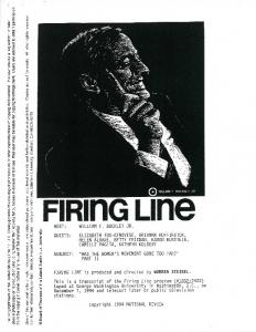 FIRinG Line - - FIRING LINE is produced and directed by WARREN STEIBEL
