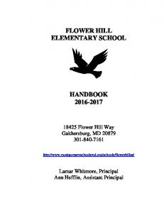 FLOWER HILL ELEMENTARY SCHOOL HANDBOOK