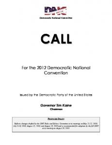 For the 2012 Democratic National Convention