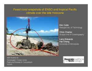 Fossil coral snapshots of ENSO and tropical Pacific climate over the late Holocene
