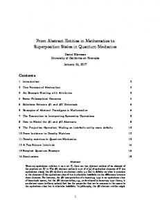 From Abstract Entities in Mathematics to Superposition States in Quantum Mechanics
