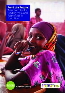 Fund the Future: An action plan for funding the Global Partnership for Education