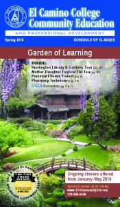Garden of Learning. Ongoing classes offered from January- May 2016