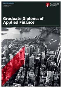 Graduate Diploma of Applied Finance