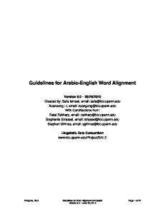 Guidelines for Arabic-English Word Alignment