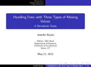 Handling Data with Three Types of Missing Values: