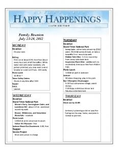 HAPPY HAPPENINGS 114TH EDITION