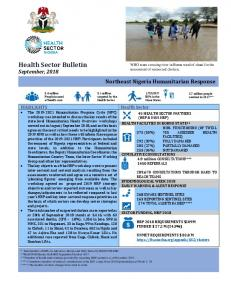 Health Sector Bulletin September, 2018