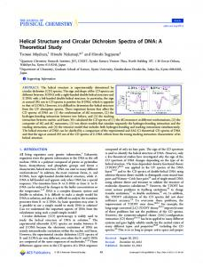Helical Structure and Circular Dichroism Spectra of DNA: A Theoretical Study