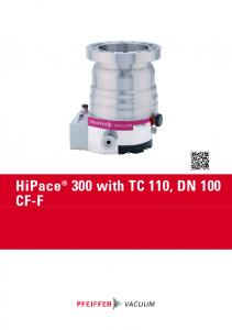 HiPace 300 with TC 110, DN 100 CF-F