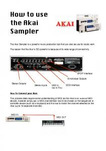 How to use the Akai Sampler