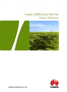 Huawei S3300 Series Switches Product Brochure