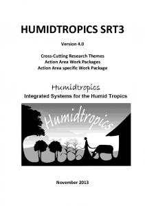 HUMIDTROPICS SRT3. Version 4.0. Cross-Cutting Research Themes Action Area Work Packages Action Area specific Work Package