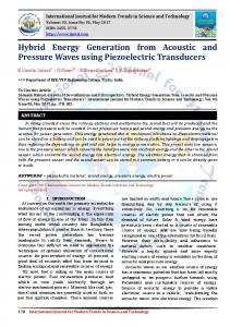 Hybrid Energy Generation from Acoustic and Pressure Waves using Piezoelectric Transducers