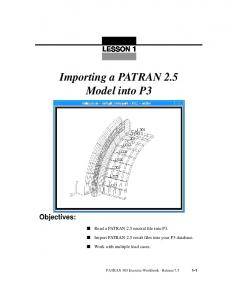 Importing a PATRAN 2.5 Model into P3