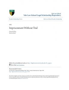Imprisonment Without Trial