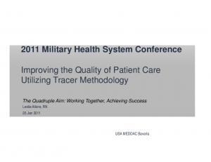 Improving the Quality of Patient Care Utilizing Tracer Methodology