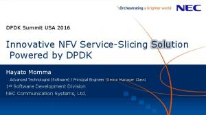Innovative NFV Service-Slicing Solution Powered by DPDK