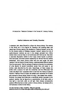 Introduction: Pastoral Echoes in the Forest of Literary History. Xanthe Ashburner and Timothy Chandler