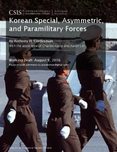 Korean Special, Asymmetric, and Paramilitary Forces