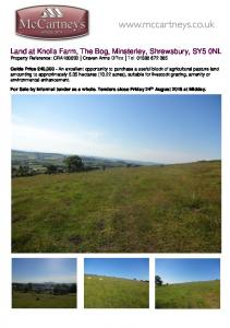 Land at Knolls Farm, The Bog, Minsterley, Shrewsbury, SY5 0NL Property Reference: CRA Craven Arms Office Tel: